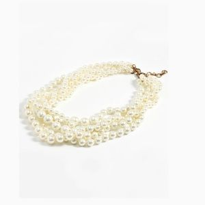 NWT J. Crew Classic Pearl Statement Necklace